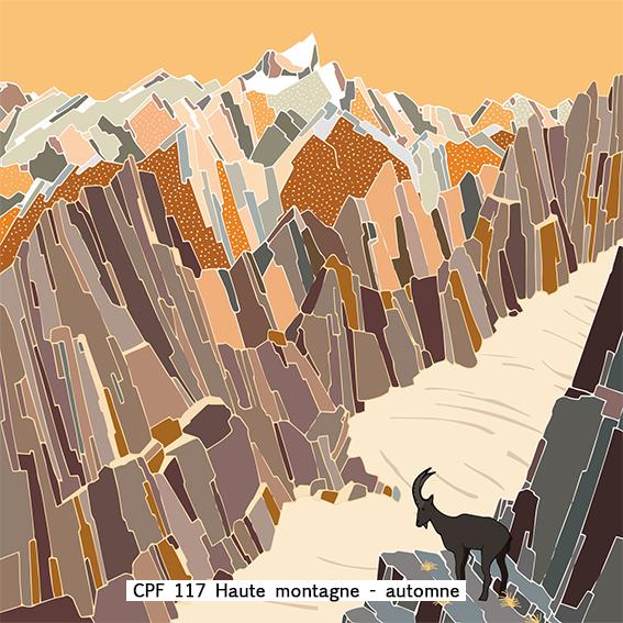 carte postal design montagne